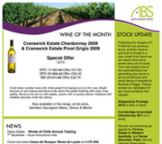 ABS Wine Agencies Newsletter Design