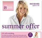 PJ Pan Newsletter Design