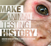 Make Animal Testing History Website Design